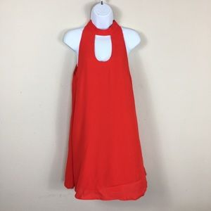 Lovers + Friends Dresses - Lovers + Friends red halter minidress size small